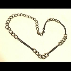 Nine West Accessories - Nine West Metal Silver Chain Link Belt Adj to 41""